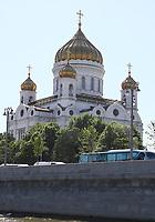 Blick von der Moskwa auf die Christus Erlöser Kirche - 15.06.2018: Sightseeing Moskau