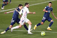 2nd January 2021, Santiago Bernabéu Stadium, Madrid, Spain;  Real Madrids Cavarjal controls the ball during a Spanish league football match between Real Madrid and Celta Vigo