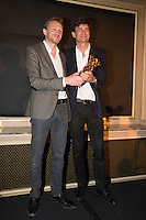 Winners of the 'Daniel Toscan du Plantier' Producer's Price, Nicolas Altmayer and his brother Eric Altmayer, for all of their production over the year 2016, attend the 'Diner des Producteurs' - Producer's Dinner - Cesar 2017. Held at Four Seasons Hotel George V on February 20, 2017 in Paris, France. # DINER DES PRODUCTEURS DES CESAR 2017