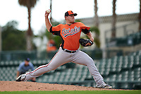 Baltimore Orioles pitcher Ryan Meisinger (49) during an instructional league game against the Minnesota Twins on September 22, 2015 at Ed Smith Stadium in Sarasota, Florida.  (Mike Janes/Four Seam Images)