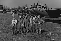 BNPS.co.uk (01202) 558833<br /> Pic: MarlowsAuctioneers/BNPS<br /> <br /> Pictured: The aircrew.<br /> <br /> The medals of a hero of the legendary Operation Jericho raid who dive-bombed the enemy from 10ft during a daring attack on a Gestapo prison have emerged for sale for £6,000.<br /> <br /> Flight Lieutenant Maxwell Sparks pulled off the daring manoeuvre during the daylight attack on the heavily-defended Amiens Prison in Northern France in February 1944.<br /> <br /> Positioned third in the attack's first wave, he flew at 'tree-top height' while bombarding the German guards' quarters, before ascending just in time to miss the prison's roof.