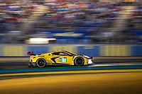#63 Corvette Racing Chevrolet Corvette C8.R LMGTE Pro, Antonio Garcia, Jordan Taylor, Nicky Catsburg, 24 Hours of Le Mans , Free Practice 2, Circuit des 24 Heures, Le Mans, Pays da Loire, France