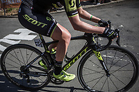 Jessica Allen (AUS/Mitchelton Scott) up the Mur de Huy.<br /> <br /> 21st La Flèche Wallonne Femmes <br /> 1 day race: Huy - Huy (118,5KM)