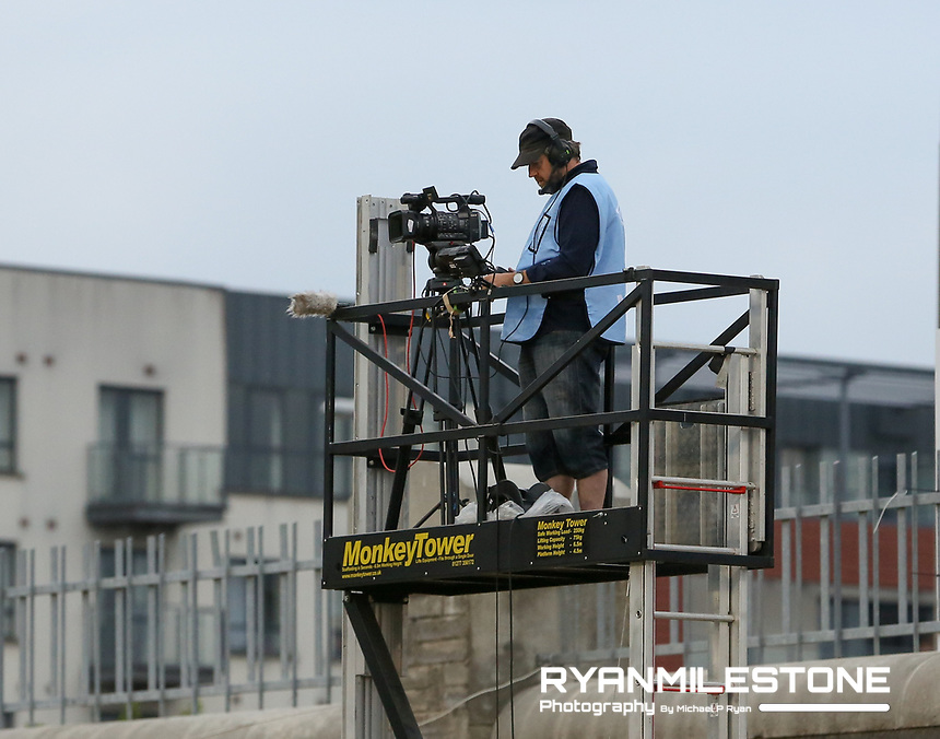 General View of TV cameraman during the UEFA Europa League First Qualifying Round First Leg between Shamrock Rovers and AIK on Thursday 12th July 2018 at Tallaght Stadium, Dublin. Photo By Michael P Ryan