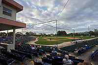 General view of a Niagara University Purple Eagles game against the Ohio State Buckeyes on February 20, 2016 at Holman Stadium at Historic Dodgertown in Vero Beach, Florida.  Ohio State defeated Niagara 10-7.  (Mike Janes/Four Seam Images)