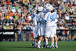 Baltimore, MD - March 17:  Blue Jays Celebrate a goal during the Syracuse v Johns Hopkins mens lacrosse game at  Homewood Field on March 17, 2012 in Baltimore, MD.(Ryan Lasek/Eclipse Sportswire)