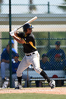 Pittsburgh Pirates Trae Arbet (72) during a minor league spring training game against the Toronto Blue Jays on March 21, 2015 at Pirate City in Bradenton, Florida.  (Mike Janes/Four Seam Images)
