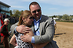 April 11, 2015: Celebration after the running of the Oaklawn Hanicap at Oaklawn Park in Hot Springs, AR. Justin Manning/ESW/CSM