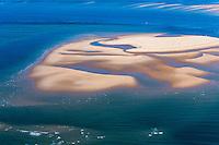 France, Gironde (33),Bassin d'Arcachon, Le banc du Chien - vue aérienne //  France, Gironde, Bassin d'Arcachon, The Banc du Chien , - aerial view