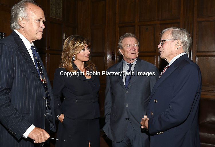honorees  Dick Ebersol, Maria Bartiromo, Steve Kroft and Tom Brokaw attend the Library of American Broadcasting  Annual Giants of Broadcasting Luncheon on October 6, 2016 at Gotham Hall in New York City. <br /> <br /> photo by Robin Platzer/Twin Images<br />  <br /> phone number 212-935-0770