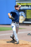 Connecticut Tigers pitcher Kevin Ziomek #11 throws a bullpen before a game against the Staten Island Yankees on July 7, 2013 at Richmond County Bank Ballpark in Staten Island, New York.  Staten Island defeated Connecticut 6-2.  (Mike Janes/Four Seam Images)