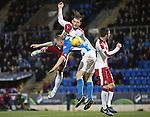 St Johnstone v Rangers…28.12.16     McDiarmid Park    SPFL<br />Joe Garner and Steven Anderson<br />Picture by Graeme Hart.<br />Copyright Perthshire Picture Agency<br />Tel: 01738 623350  Mobile: 07990 594431