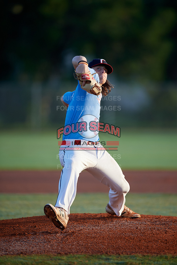 Gavin Bruni (2) during the WWBA World Championship at Terry Park on October 10, 2020 in Fort Myers, Florida.  Gavin Bruni, a resident of Alliance, Ohio who attends Alliance High School, is committed to Ohio State.  (Mike Janes/Four Seam Images)