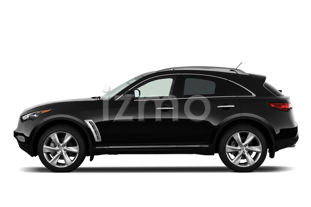 Driver side profile view of a 2009 Infiniti FX50.