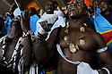 Abu Dhabi 18 dicembre 2010. Finale Club World Cup Inter Mazembe. La straordinaria tifoseria della squadra congolese ha suonato cantato e ballato per l'intera durata della partita.  Abu Dhabi 18 december 2010. Club World Cup Final Internazionale Milano Mazembe. The fantastic supporters of the Congolese team have been playing singing and dancing throughout the all match