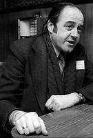 ARCHIVE -<br /> Raymond Levesque,en Fevrier 1975<br />  (date exacte inconue)<br /> <br /> Photo : Agence Quebec Presse  - Alain Renaud