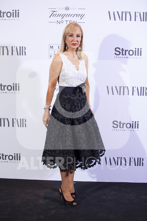 Carmen Lomana poses during the 'HUBERT DE GIVENCHY' exhibition inauguration at THYSSEN-BORNEMISZA museum in Madrid, Spain. October 20, 2014. (ALTERPHOTOS/Victor Blanco)