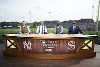 DYERSVILLE, IOWA - AUGUST 12: (L-R) Kevin Burkhardt, Alex Rodriguez, David Ortiz, and Frank Thomas on the Fox MLB Pregame show at the MLB Field of Dreams game on August 12, 2021 in Dyersville, Iowa. (Photo by Frank Micelotta/Fox Sports/PictureGroup)