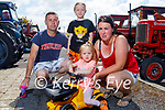Ready for some fun at the vintage tractor run in Ballyduff on Sunday. Front: Lily Costello. Back l to r: John O'Connell, Emma and Claire Costello