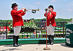 09 June 06: Sam the Bugler (right) has company in calling the horses to the post on Belmont Stakes Day at Belmont Park in Elmont, New York.
