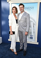 """WEST HOLLYWOOD - SEPT 1: Cobie Smulders and Taran Killam attend a red carpet event for FX's """"Impeachment: American Crime Story"""" at Pacific Design Center on September 1, 2021 in West Hollywood, California. (Photo by Frank Micelotta/FX/PictureGroup)"""