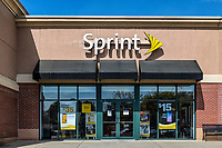 Sprint logo on the exterior of a store.