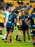 30th April 2021; Wellington, New Zealand;  Hurricanes Dane Coles and Highlanders Mitch Hunt are sent to the bin.  Hurricanes versus  Highlanders, Super Rugby, Sky Stadium, Wellington New Zealand, Friday 30 April 2021.