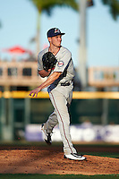Fort Myers Miracle starting pitcher Tyler Jay (11) delivers a pitch during a game against the Bradenton Marauders on April 9, 2016 at McKechnie Field in Bradenton, Florida.  Fort Myers defeated Bradenton 5-1.  (Mike Janes/Four Seam Images)