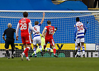 13th February 2021; Madejski Stadium, Reading, Berkshire, England; English Football League Championship Football, Reading versus Millwall; Matt Smith of Millwall shoots and scores his sides 1st goal in the 76th minute to make it 1-1