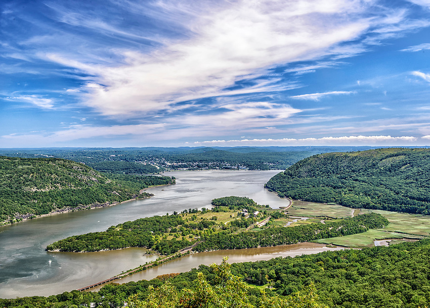 Iona Island is located in the Hudson River at Stony Point, just south of the Bear Mountain Bridge.