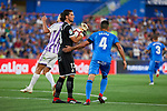 Getafe CF's David Soria (l) and Bruno Gonzalez (4) during La Liga match. August 31, 2018. (ALTERPHOTOS/A. Perez Meca)
