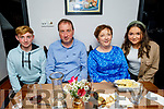 Larry O'Connor from Duagh celebrating his birthday in Croi on Friday. L to r: Tom, Larry, Tina and Sadie O'Connor.
