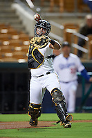 Glendale Desert Dogs catcher Reese McGuire (77) during an Arizona Fall League game against the Salt River Rafters on October 21, 2015 at Camelback Ranch in Glendale, Arizona.  Glendale defeated Salt River 1-0.  (Mike Janes/Four Seam Images)