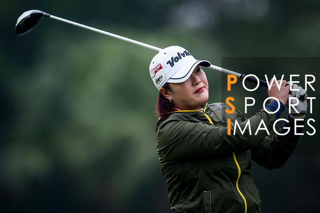 Hye-Jung Choi of Korea  in action during the Hyundai China Ladies Open 2014 on December 12 2014 at Mission Hills Shenzhen, in Shenzhen, China. Photo by Xaume Olleros / Power Sport Images