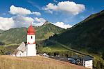 Austria, Vorarlberg, Damuels: popular resort at Bregenzerwald with parish church St. Nikolaus | Oesterreich, Vorarlberg, Damuels: beliebter Urlaubsort im Bregenzerwald Pfarrkirche St. Nikolaus