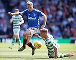 12.05.2019 Rangers v Celtic: Scott Arfield and Kristoffer Ajer