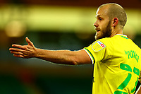 3rd November 2020; Carrow Road, Norwich, Norfolk, England, English Football League Championship Football, Norwich versus Millwall; Teemu Pukki of Norwich City complains to the referee about time wasting