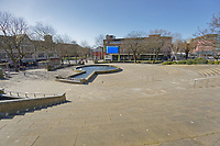 Pictured: Castle Square is deserted in the city centre of Swansea, Wales, UK. Sunday 22 March 2020<br /> Re: Covid-19 Coronavirus pandemic, UK.