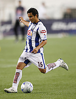 Pachuca CF midfielder Luis Montes (15). The New England Revolution defeated Pachuca CF 1-0 during a Group B match of the 2008 North American SuperLiga at Gillette Stadium in Foxborough, Massachusetts, on July 16, 2008.