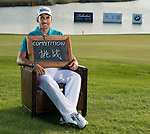 """Rafa Cabrera-Bello was asked by Ballantine's at the BMW Masters to describe how he stays true to himself; his answer is shown. Ballantine's, who recently announced their new global marketing campaign, """"Stay True, Leave An Impression"""", is a sponsor at the BMW Masters, which takes place from the 24-27 October at Lake Malaren Golf Club in Shanghai.    Photo by Andy Jones / The Power of Sport Images for Ballantines."""