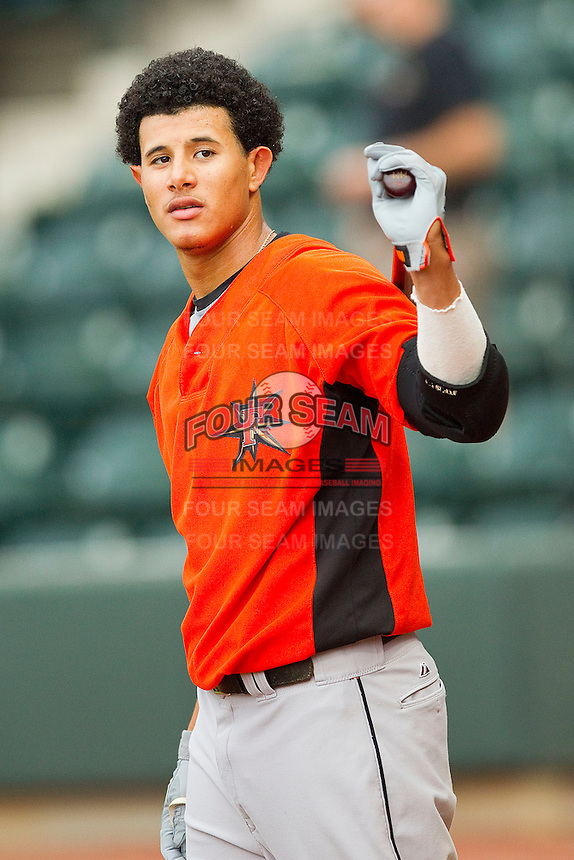 Shortstop Manny Machado #3 of the Frederick Keys prior to the game against the Winston-Salem Dash at BB&T Ballpark on August 5, 2011 in Winston-Salem, North Carolina.  The Dash defeated the Keys 10-0.   Brian Westerholt / Four Seam Images