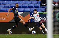 Bolton Wanderers' Shaun Miller competing with Newcastle United U21's Ludwig Francillette (left) <br /> <br /> Photographer Andrew Kearns/CameraSport<br /> <br /> EFL Papa John's Trophy - Northern Section - Group C - Bolton Wanderers v Newcastle United U21 - Tuesday 17th November 2020 - University of Bolton Stadium - Bolton<br />  <br /> World Copyright © 2020 CameraSport. All rights reserved. 43 Linden Ave. Countesthorpe. Leicester. England. LE8 5PG - Tel: +44 (0) 116 277 4147 - admin@camerasport.com - www.camerasport.com