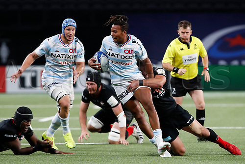 26th September 2020, Paris La Défense Arena, Paris, France; Champions Cup rugby semi-final, Racing 92 versus Saracens;  Lauret (Racing 92)  open field run