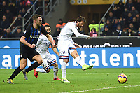 Manolo Gabbiadini of Sampdoria scores goal of 1-1 <br /> Milano 17-2-2019 Stadio Giuseppe Meazza in San Siro Football Serie A 2018/2019 FC Internazionale  - UC Sampdoria Foto Image Sport / Insidefoto