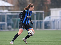 Ellen Martens (2) of Club Brugge pictured during a female soccer game between Club Brugge Dames YLA and White Star Woluwe on the 12 th matchday of the 2020 - 2021 season of Belgian Scooore Womens Super League , saturday 30 January 2021  in Brugge , Belgium . PHOTO SPORTPIX.BE | SPP | DAVID CATRY