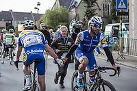 Race winner Fernando Gaviria (COL/Quick Step Floors) congratulated by Edward Planckaert (BEL/Sport Vlaanderen Baloise) <br /> <br /> 102nd Kampioenschap van Vlaanderen 2017 (UCI 1.1)<br /> Koolskamp - Koolskamp (192km)