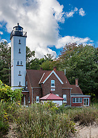 Presque Isle Lighthouse, Lake Erie, Erie, Pennsylvania, USA.