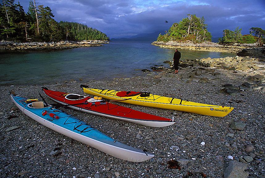 Sea Kayaking, Deer Group, Barkley Sound, West Coast Vancouver Island, B.C. Canada