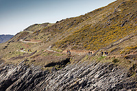 Pictured: People walk on the coastal path by Langland Bay near Swansea, Wales, UK. Sunday 22 March 2020<br /> Re: Covid-19 Coronavirus pandemic, UK.