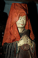 Holzstatue in Dau-Pagode in Khuong Tu bei Hanoi, Vietnam